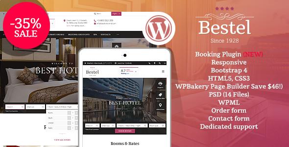 Bestel Hotel WordPress Theme