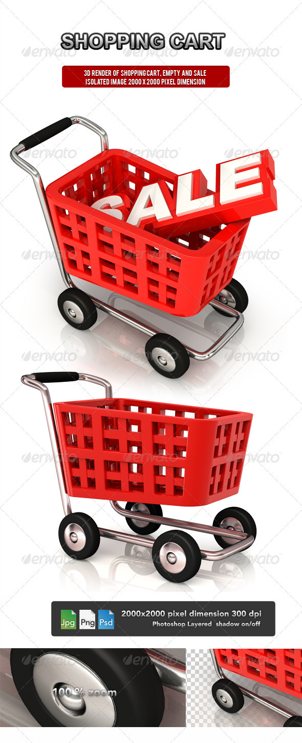 Shopping Cart - Objects 3D Renders
