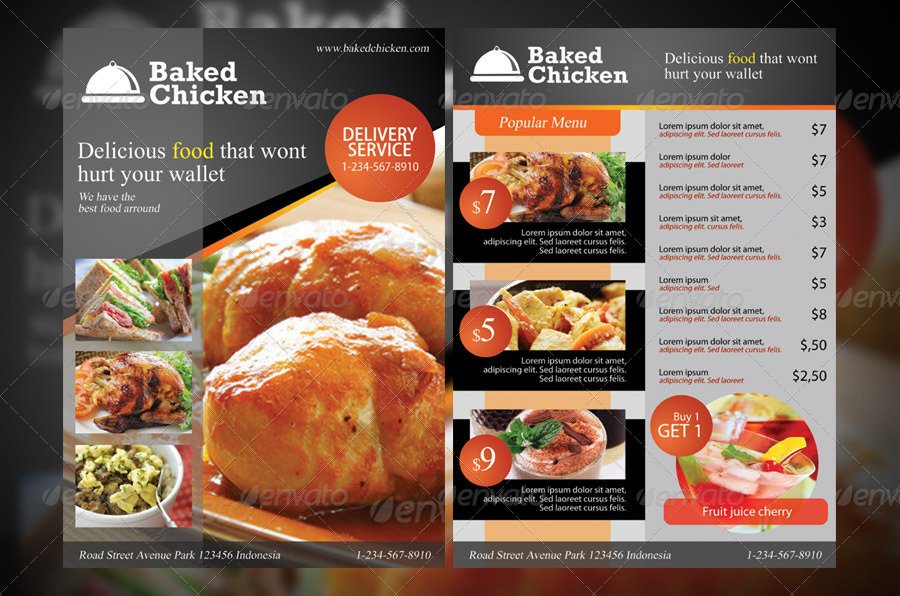 Food Menu Flyer Antaexpocoachingco - Menu brochure template