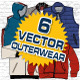 Outerwear Vector Mock-Ups - template - GraphicRiver Item for Sale