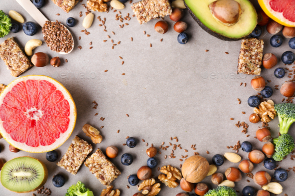 Healthy food lifestyle background - Stock Photo - Images