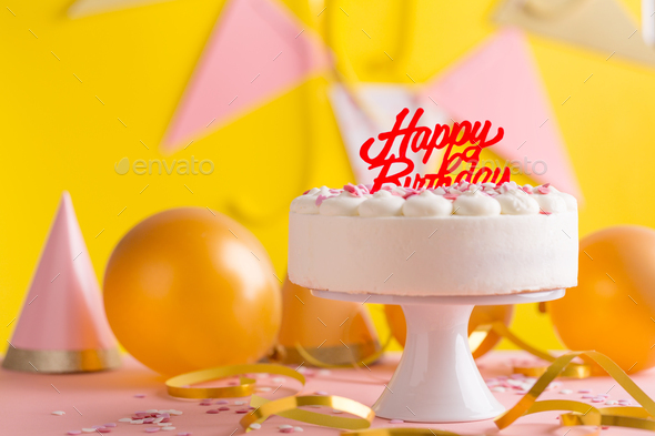 Fine Party Birthday Background With Cake Stock Photo By Valeria Aksakova Funny Birthday Cards Online Elaedamsfinfo