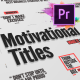 Just Type | Motivational Titles For Premiere Pro - VideoHive Item for Sale