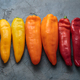 Ripe Colorful Ramiro Peppers on stone background - PhotoDune Item for Sale