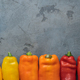 Ripe Colorful Ramiro Peppers on stone background, copy space - PhotoDune Item for Sale