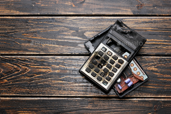 Burnt Calculator - Stock Photo - Images