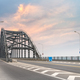 steel bridge and road with sunset sky - PhotoDune Item for Sale