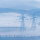 power transmission towers in the morning fog - PhotoDune Item for Sale