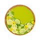 Cheesecake with slices of lime and lemon, fresh mint, candied fruit and pansy  - PhotoDune Item for Sale
