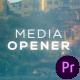 Cinematic Media Opener - VideoHive Item for Sale