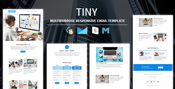Tiny - Multipurpose Responsive Email Template by guiwidgets