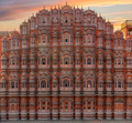 Scenic sunset view to Hawa Mahal in Jaipur, India - PhotoDune Item for Sale