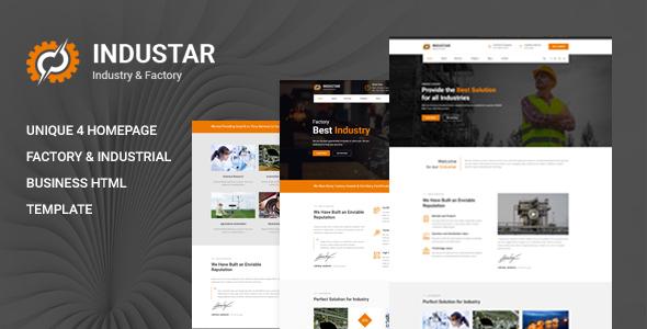 Industar - Industry & Factory HTML Template
