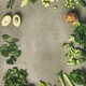 Flat-lay of whole and cut vegetables and herbs, copy space - PhotoDune Item for Sale