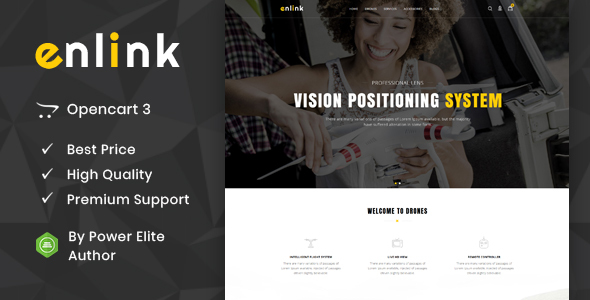 Enlink - Single Product OpenCart Theme