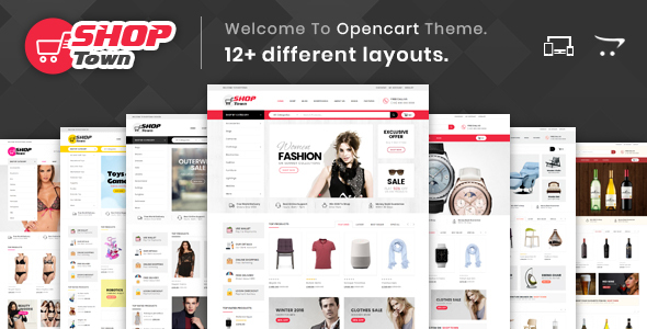 Shop Town - Multipurpose OpenCart 2 & 3 Theme