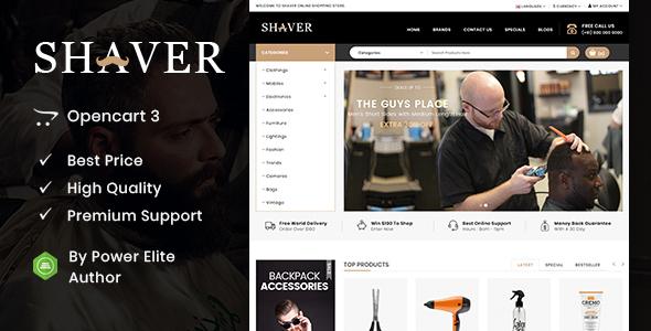 Shaver - Multipurpose OpenCart 3 & 2 Theme