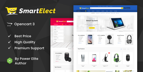 SmartElect - Multipurpose OpenCart 3 Theme