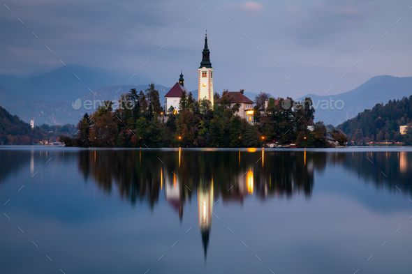 Autumn View On Bled Lake Bled Slovenia Europe