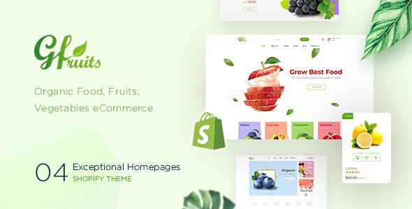 GFruits – Food eCommerce Shopify Theme