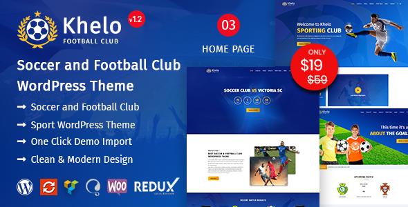Khelo - Soccer & Football Club WordPress Theme