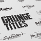Just Type | Grunge Titles - VideoHive Item for Sale