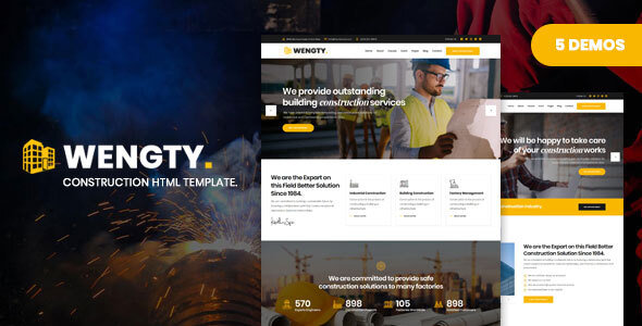 Wengty - Construction & Building HTML Template by DynamicLayers