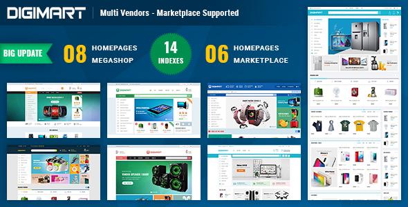 Digimart   Multi Vendors - Marketplace PrestaShop 1.7 Theme (  Compatible JA Marketplace )