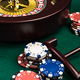 Wooden Roulette with Casino Chips on Green Felt - PhotoDune Item for Sale