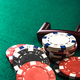Poker or Roulette Casino Chips Close Up on Green Felt Casino Tab - PhotoDune Item for Sale