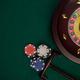 Wooden Roulette Drum on Green Casino Felt Table, Border BAckgrou - PhotoDune Item for Sale