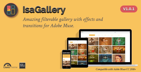 IsaGallery - Filterable Image Gallery for Adobe Muse.