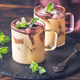 Two glass mugs of tiramisu - PhotoDune Item for Sale