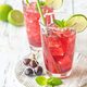 Two glasses of cherry mojito - PhotoDune Item for Sale