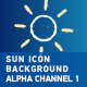 Sun Icon Background With Alpha Channel 1 - VideoHive Item for Sale