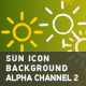 Sun Icon Background With Alpha Channel 2 - VideoHive Item for Sale