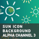 Sun Icon Background With Alpha Channel 3 - VideoHive Item for Sale
