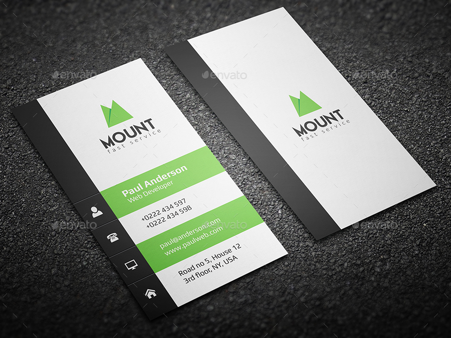creative vertical business card by th studio