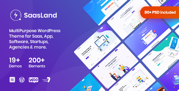 SaasLand - MultiPurpose WordPress Theme for Saas & Startup