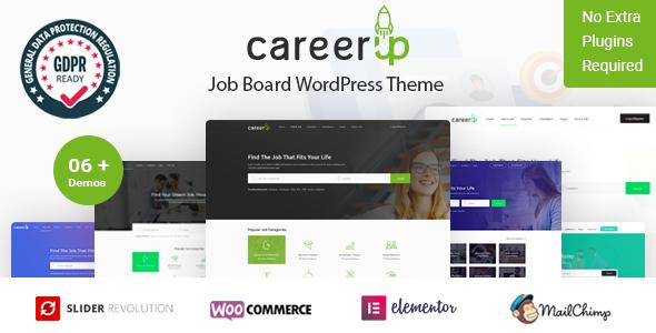 ThemeForest Codecanyon - CareerUp - Job Board WordPress