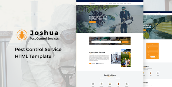 Joshua - Pest Control Service HTML Template by HasTech