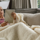 Active senior Caucasian woman relaxing on sofa and using digital tablet in living room  - PhotoDune Item for Sale