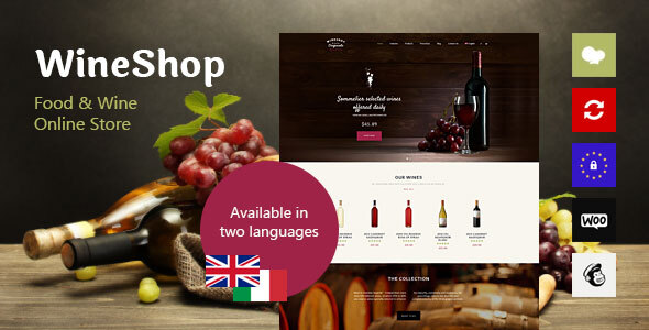 WineShop - Food & Wine Online Store WordPress Theme