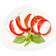 top view of mozzarella and tomato with basil - PhotoDune Item for Sale