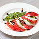 mozzarella cheese and tomato with basil leaves - PhotoDune Item for Sale