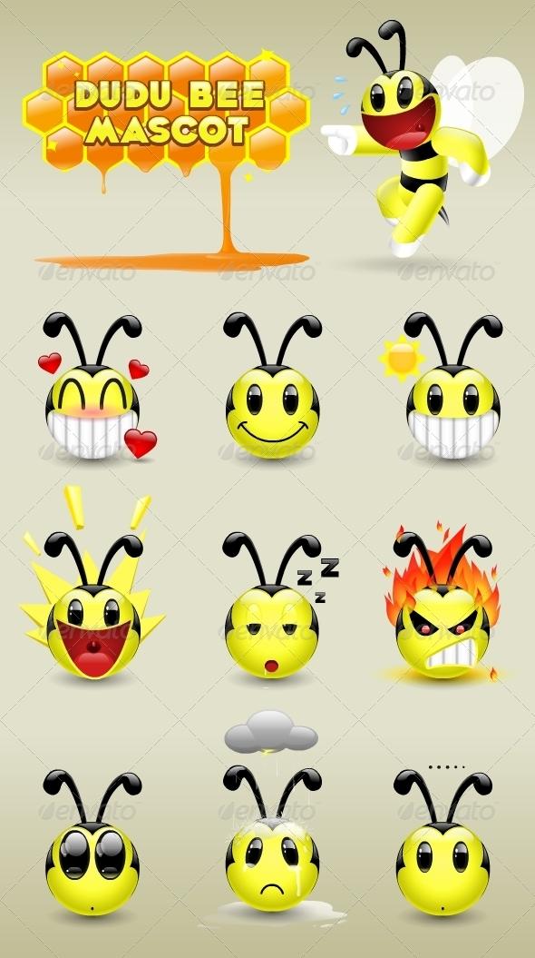 Dudu Bee Mascot - Characters Vectors