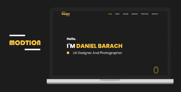Marvelous Modtion - Creative One Page Personal