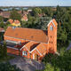 Aerial view of Roedovre church located on Zealand in Denmark - PhotoDune Item for Sale