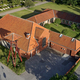 Aerial view of Groendalslund church located on Zealand in Denmark - PhotoDune Item for Sale