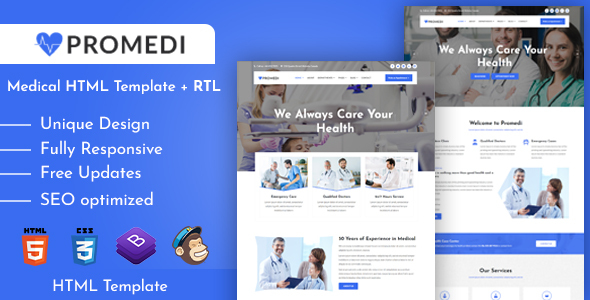 Special ProMedi - Medical Services and Doctors Clinic HTML Template